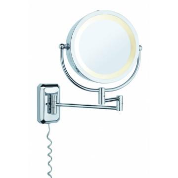 Косметическое зеркало с подсветкой и увеличением Paulmann Bela 70349, 1xE14x40W, хром, металл