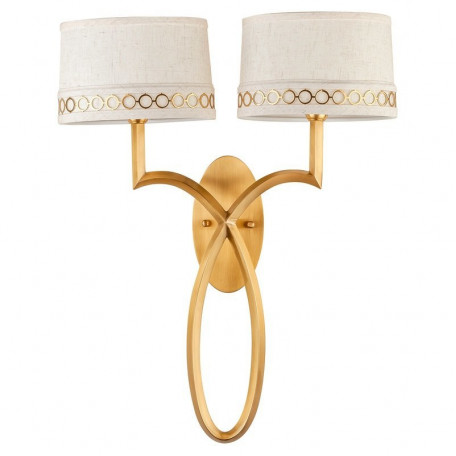 Бра L'Arte Luce Luxury Allegretto L02622, 2xE14x40W, металл, текстиль