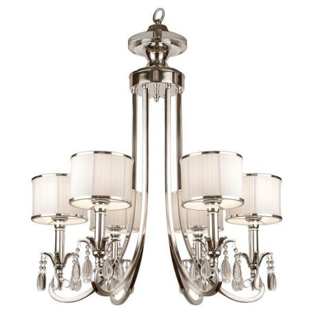 Подвесная люстра L'Arte Luce Luxury Lombard L00506, 6xE14x40W, металл, текстиль, стекло