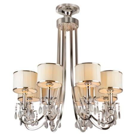 Подвесная люстра L'Arte Luce Luxury Lombard L00508, 8xE14x40W, металл, текстиль, стекло