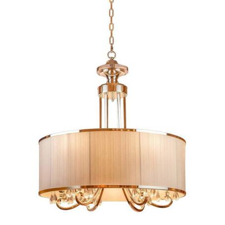 Подвесная люстра L'Arte Luce Luxury Lombard L00516, 6xE14x40W, металл, текстиль, стекло