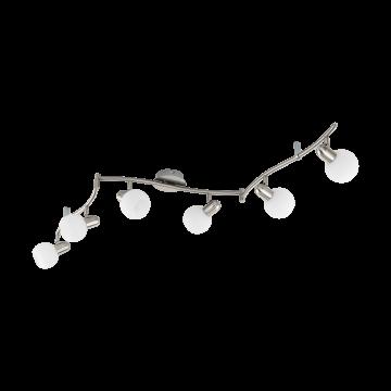 Потолочный светильник с регулировкой направления света Eglo Comba 97713, 6xE14x6W, никель, белый, металл, стекло