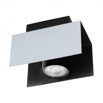 Потолочный светильник Eglo Viserba 97394, 1xGU10x5W, белый, черно-белый, черный, металл
