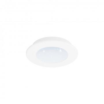Светодиодная панель Eglo Fiobbo 97591, LED 5W 3000K 640lm, белый, металл с пластиком, пластик
