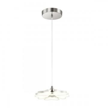 Подвесной светодиодный светильник Lumion Leila 3644/26L, LED 26W 4000K (дневной), хром, белый, металл, пластик