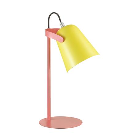 Настольная лампа Lumion Desk Kenny 3653/1T, 1xE14x4W, розовый, желтый, металл