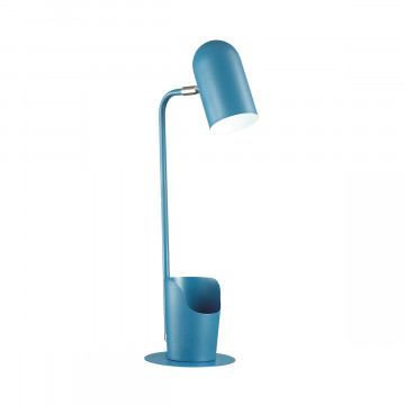Настольная лампа Lumion Desk Ejen 3690/1T, 1xE27x40W, синий, металл