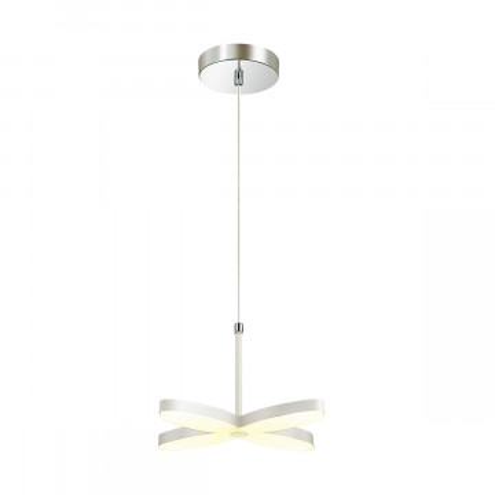 Подвесная светодиодная люстра Lumion LEDio Darma 3643/22L, LED 22W 3000K, белый, хром, металл, металл с пластиком, пластик