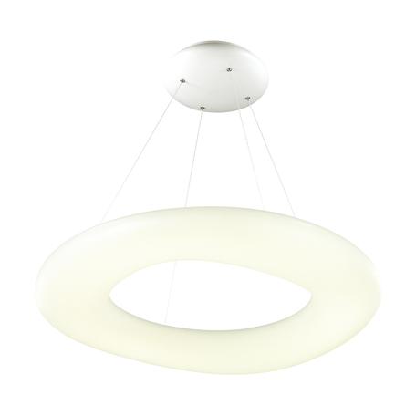 Подвесной светодиодный светильник Odeon Light Aura 4064/108L, LED 108W, 4000K (дневной), хром, белый, металл, пластик