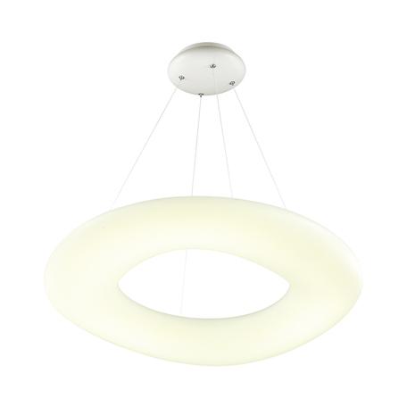 Подвесной светодиодный светильник Odeon Light Aura 4064/80L 4000K (дневной), хром, белый, металл, пластик
