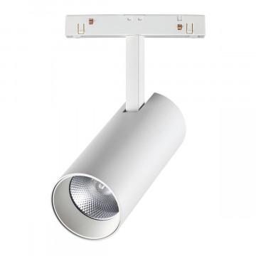 Светодиодный светильник с регулировкой направления света для шинной системы Novotech Shino Flum 358423, LED 20W 4000K 1600lm, белый, металл