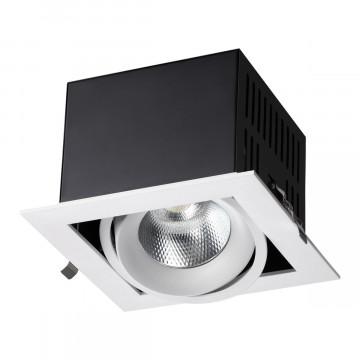 Встраиваемый светодиодный светильник Novotech Spot Gesso 358440, LED 24W 4000K 2160lm, белый, металл