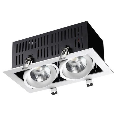 Встраиваемый светодиодный светильник Novotech Spot Gesso 358441, LED 48W 4000K 4320lm, белый, металл