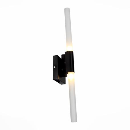 Настенный светильник ST Luce Bastoni SL947.401.02, 2xG9x40W, черный, белый, металл, стекло
