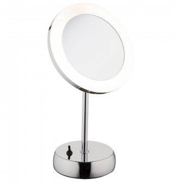 Косметическое зеркало со светодиодной подсветкой и увеличением Nowodvorski Make Up LED 9504, IP44, LED 3W 43lm, белый, хром, металл, пластик, стекло