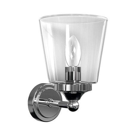 Настенный светильник Nowodvorski Bali 9353, IP44, 1xE14x25W, хром, прозрачный, металл, стекло