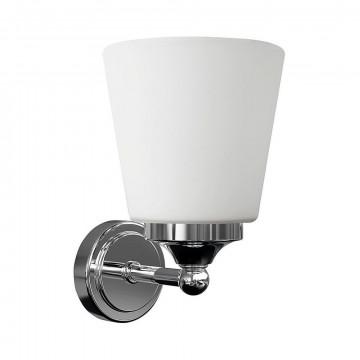 Настенный светильник Nowodvorski Bali 9354, IP44, 1xE14x25W, хром, белый, металл, стекло