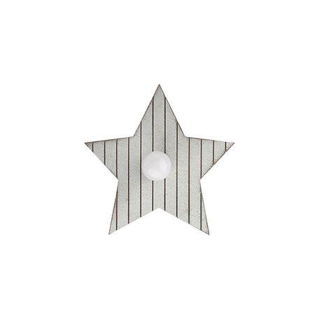Настенный светильник Nowodvorski Toy-Star 9376, 1xE14x40W, серый, дерево