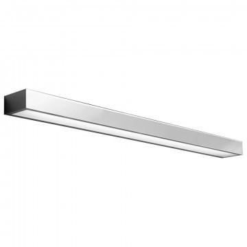 Настенный светодиодный светильник Nowodvorski Kagera LED 9502, IP44, LED 24W 1380lm, хром, металл, стекло