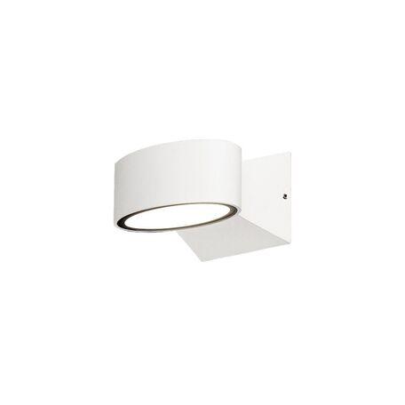 Настенный светодиодный светильник Nowodvorski Hanoi LED 9512, IP44, LED 6W 360lm, серый, белый, металл, пластик