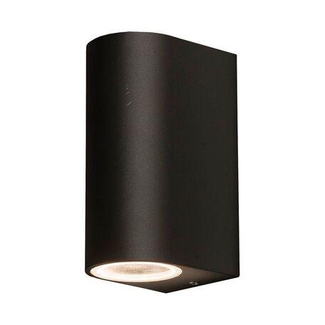 Настенный светильник Nowodvorski Nico 9517, IP44, 2xGU10x10W, черный, металл, стекло