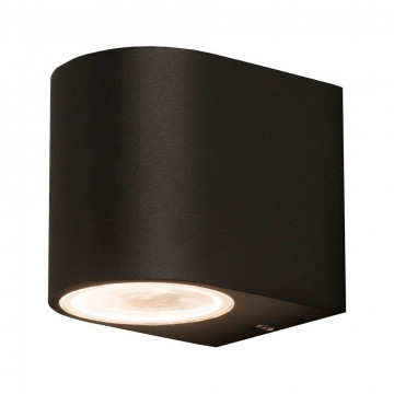 Настенный светильник Nowodvorski Nico 9518, IP44, 1xGU10x10W, черный, металл со стеклом, стекло