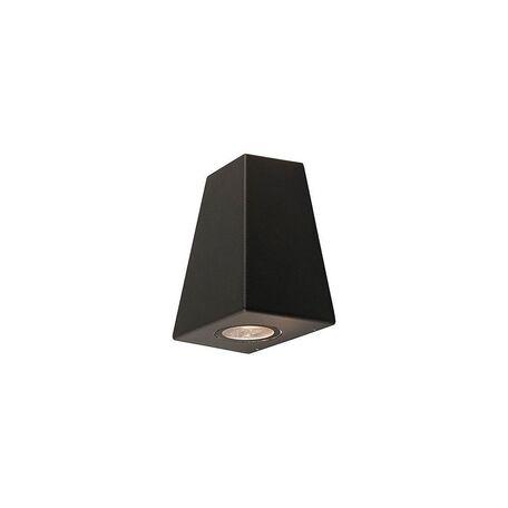 Настенный светильник Nowodvorski Lamar 9553, IP44, 2xGU10x10W, черный, металл, стекло