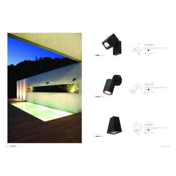 Настенный светильник Nowodvorski Lamar 9553, IP44, 2xGU10x10W, черный, металл со стеклом, стекло - миниатюра 2