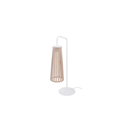 Настольная лампа Nowodvorski Dover 9268, 1xGU10x35W, белый, коричневый, металл, дерево