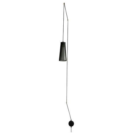 Подвесной светильник Nowodvorski Dover 9264, 1xGU10x35W, черный, металл, дерево