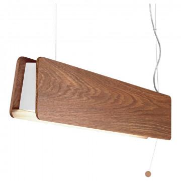 Подвесной светодиодный светильник Nowodvorski Oslo 9314, LED 11W 950~1000lm, белый, коричневый, металл, дерево