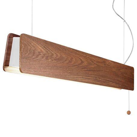 Подвесной светодиодный светильник Nowodvorski Oslo 9315, LED 16W 1400~1500lm, белый, коричневый, металл, дерево