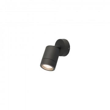 Потолочный светильник с регулировкой направления света Nowodvorski Fallon 9552, IP44, 1xGU10x10W, черный, прозрачный, металл, стекло