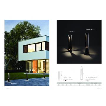 Садово-парковый светодиодный светильник Nowodvorski Tepic LED 9508, IP44, LED 9W 395lm, черный, металл - миниатюра 2