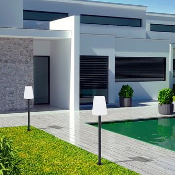 Садовый торшер Nowodvorski GALAXY 9246, IP44, 1xE27x40W, черный, белый, металл, пластик